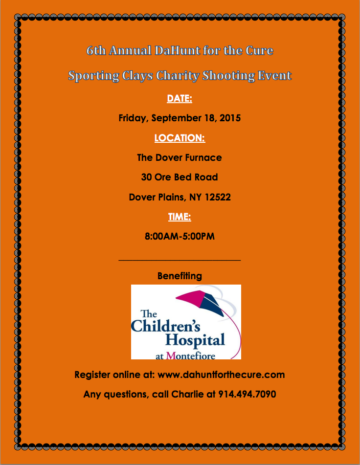 2015 DaHunt for the 6th Annual Sporting Clays Charity Shooting Event